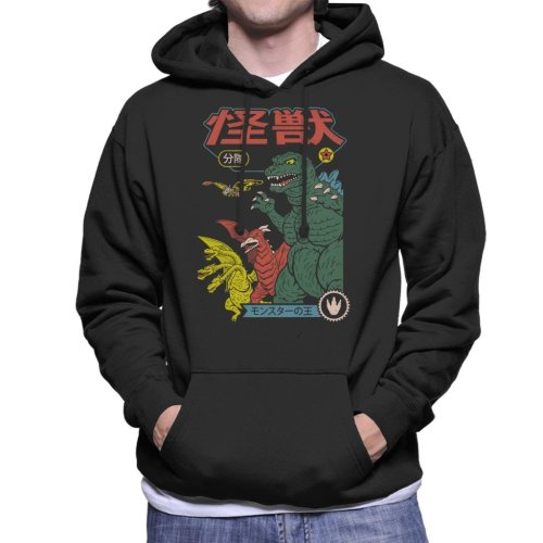 Kaiju Sentai Japanese Monsters Men's Hooded Sweatshirt