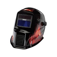 Draper WGH4 Solar Powered Auto-Varioshade Welding and Grinding Helmet-Flame