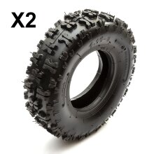 2 x Tyre 4.10-6 Off Road Knobbly Tread Midi Moto Quad Bike ATV