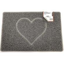 Nicoman Heart Embossed Shape Door Mat Dirt-Trapper