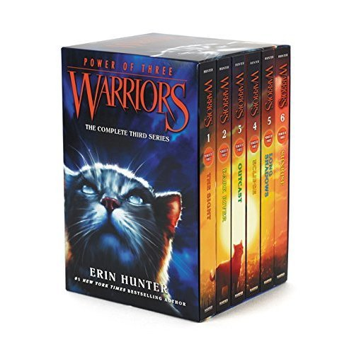 Warrior Cats Series 3: Power of Three - 6 Books Set By Erin Hunter (The Sight, Dark River, Outcast, Eclipse, Long Shadows, Sunrise