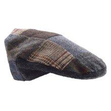 Lambland Mens Traditional Patch Harris Tweed Flat Cap