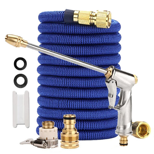 Expandable Garden Hose Pressure Power Washer Set