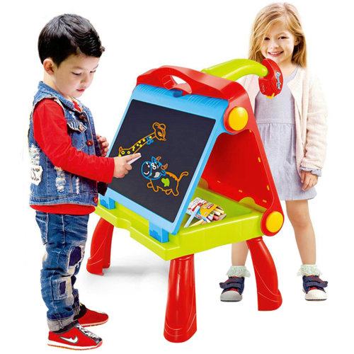 The Magic Toy Shop 4 in 1 Kids Folding Plastic Drawing Board