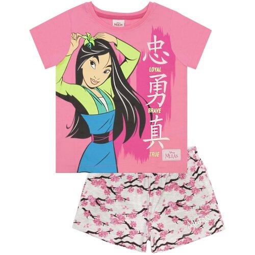 Disney Mulan Loyal Brave True Girl's Short Pyjamas