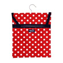 Dexam Polka Peg Bag, Red