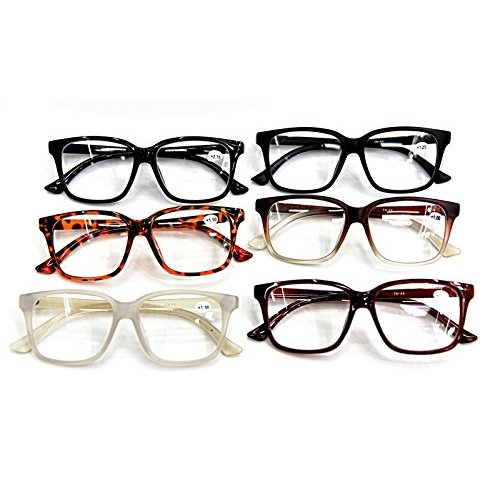 (White, 1.5) Fashion Geek/Nerd Oversized Unisex Stylish Retro Sturdy Reading Glasses in 8 Colours Model TN44
