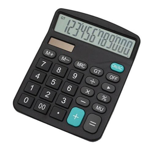 Calculator,YEBMoo 12-Digit Solar Battery Basic Calculator, Solar Battery Dual Power Office Calculator, with Large LCD Display and Large Buttons...