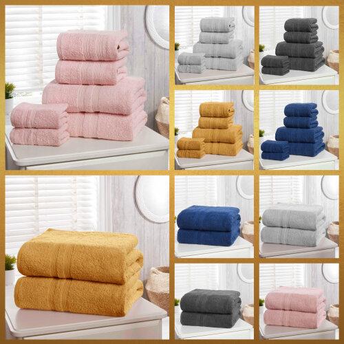 CAMDEN 500gsm Cotton Bathroom Towels - 6 piece or 2 piece.