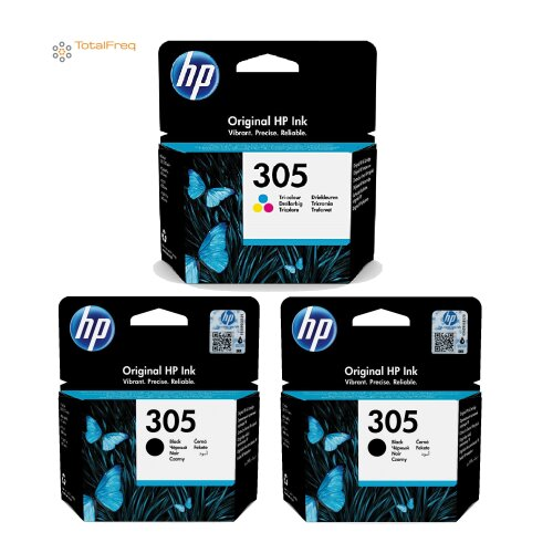 HP 305 INK CARTRIDGES MULTIPACK 2x Black, 1x Color