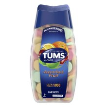 TUMS Ultra Strength Assorted Fruit Antacid Chewable Tablets for Heartburn Relief, 160 count