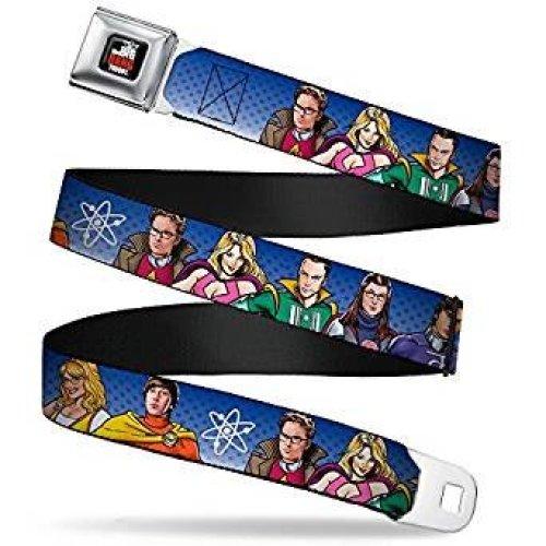 Seatbelt Belt - The Big Bang Theory - V.6 Adj 24-38' Mesh New bbta-wbbt021