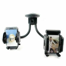 Twin 360 In Car Windscreen Suction Mobile Phone Mount Holder Cradle