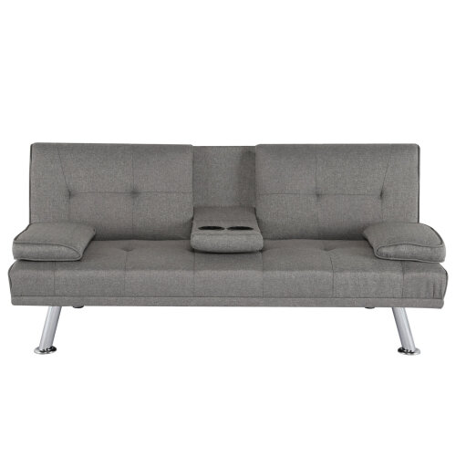 Grey 3 Seater Luxury Sofa Bed Recliner