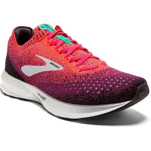 (9 UK) Brooks Womens Levitate 2 Running Shoes, Pink/Black/Aqua