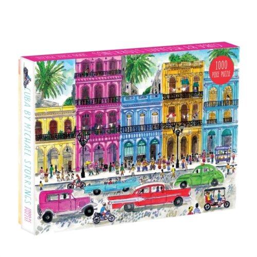 Michael Storrings Cuba 1000 Piece Puzzle by Galison & By artist Michael Storrings