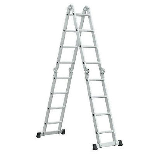4.7m Multi-Position Aluminium Folding Ladder With Platform Steps