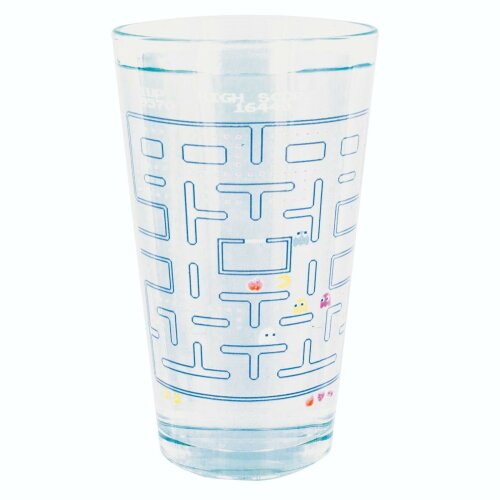 Colour-Changing Pac-Man Drinking Glass | Cold-Activated Decal Glass