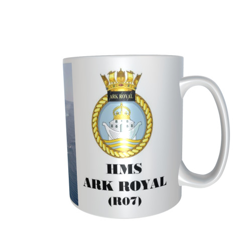 HMS ARK ROYAL R07 PERSONALISED CERAMIC COFFEE MUG