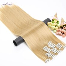 LISI HAIR Synthetic 16 Clips in Hair extension 56Cm 24 Inch Long Synthetic Fake False Hairpiece Clip In Hair Extension