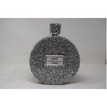 Silver Gift  round  travel pocket chanel perfume bottle ornament   Wedding Anniversary, Birthday Present, Home Decor