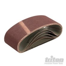 64mm x 406mm 5pk 120 Grit Sanding Belt -  sanding belt 64 x 406mm triton 5pk 120 grit 283391