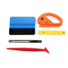 5pcs Car Vinyl Wrapping Window Glass Tint Tuck Gasket Cutter Tools Kit