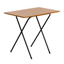 Folding Laptop Desk PC Home Office University Study Student Table - Wood Effect