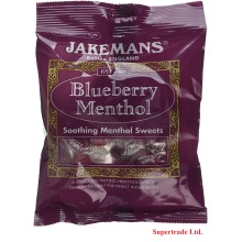 Jakemans Blueberry Soothing Menthol Sweets Bags Lozenges - 100g