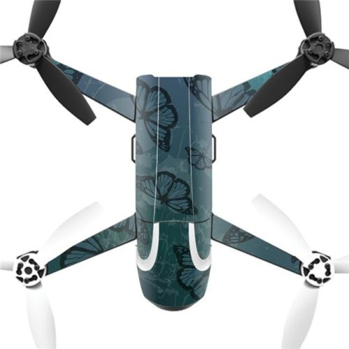MightySkins PABEBOP2-Dark Butterfly Skin Decal Wrap for Parrot Bebop 2 Quadcopter Drone - Dark Butterfly