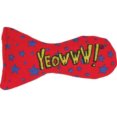 (3in, Red/Blue) Yeowww Stinkies Catnip Dots Cat Toy