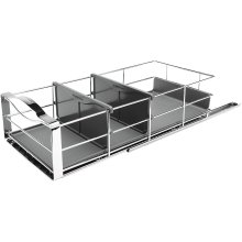 simplehuman KT1118 22.8cm Pull-Out Cabinet Organiser, Grey Plastic with Heavy-Gauge Steel Frame, W 22.8cm x H 15.2cm x D 50.8cm