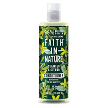 Faith in Nature Natural Seaweed & Citrus Conditioner, Detoxifying Vegan & Cruelty Free, Parabens and SLS Free, for All Hair Types, 400 ml