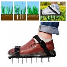 29 x 13cm Spikes Pair Lawn Garden Grass Aerator Aerating Sandals Shoes