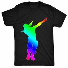 8TN Rainbow Dabbing NiteFort Parody Ps4 Gaming Nerd Womens T Shirt