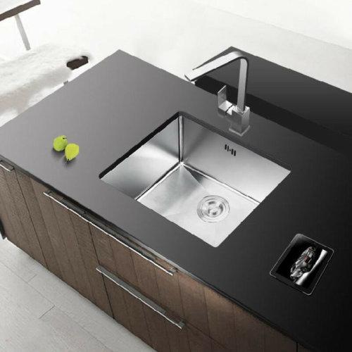 Stainless Steel Square Kitchen Undermount Sink Single Bowl Drainer