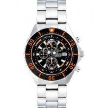 Chris Benz Ladies, Men, Unisexwatch CB-C300-O-MB chronographs, Divers´ watch