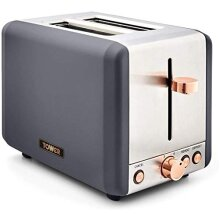 Cavaletto 2-Slice Toaster Stainless Steel, 850W, Grey and Rose Gold