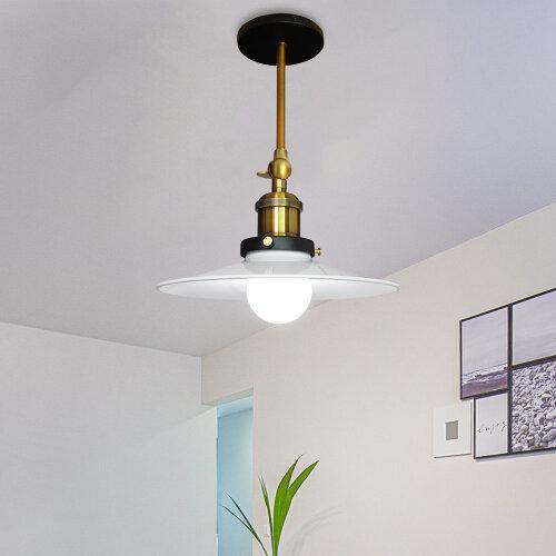 (Dia 26cm, White) Straight Wall Lamp Ceiling Light Flying Saucer Shape