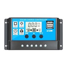 Intelligent Solar Charge Controller Regulator With Dual USB LCD Display