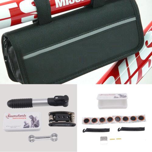 Bicycle MTB Tool Puncture Repair Kit With Pump Set Carry Case Bag