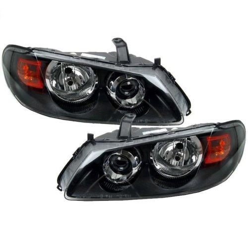 Nissan Almera 2003-2006 Black Headlights Headlamps 1 Pair O/s & N/s