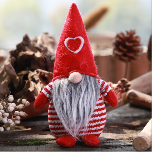 (Red) Christmas Male Gonk Gnome Festive Decoration