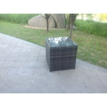 Rattan side coffee table Outdoor Garden Furniture patio furniture grey