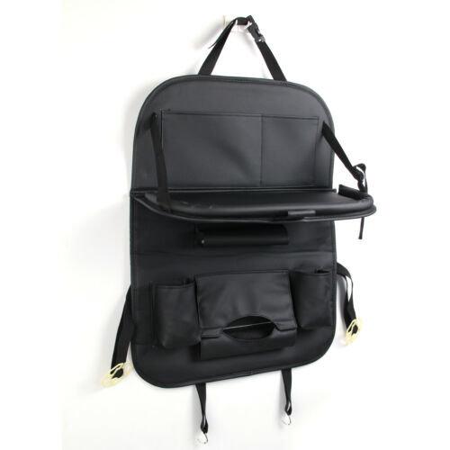 Black Car Seat Folding Table Storage