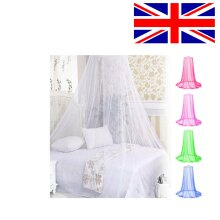 Polyester Mosquito Net Netting Hanging Round Bedding Curtain Round Dome Insect