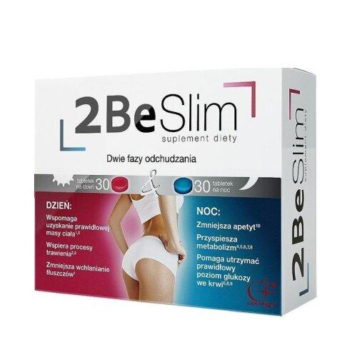 2Be Slim, Day/Night Weight Loss Support 60 tabl Efektywne Odchudzanie