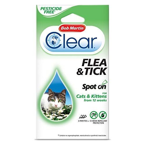 (12 Weeks) Bob Martin Clear Flea & Tick Spot On For Cats