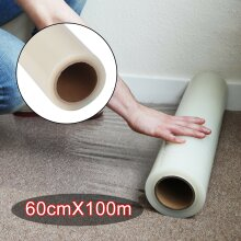 100M Carpet Floor Protector Self Adhesive Clear Roll Protection Cover