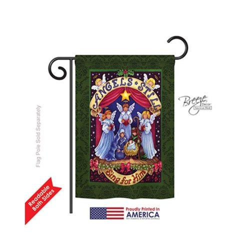 Breeze Decor 64117 Christmas Sing for Him 2-Sided Impression Garden Flag - 13 x 18.5 in.